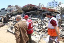 """صورة الهلال الأحمر المصري"""" يزور قطاع غزة.. ويقدم الدعم والمساندة للفلسطنيين     بتوجيهات"""