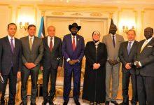 صورة رئيس جنوب السودان يستقبل وزيرى الصناعة والتموين واعضاء الوفد المصرى بالعاصمة جوبا